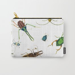 Bug Life - Beetles - Bugs - Insects - Colorful - Insect Pattern Carry-All Pouch