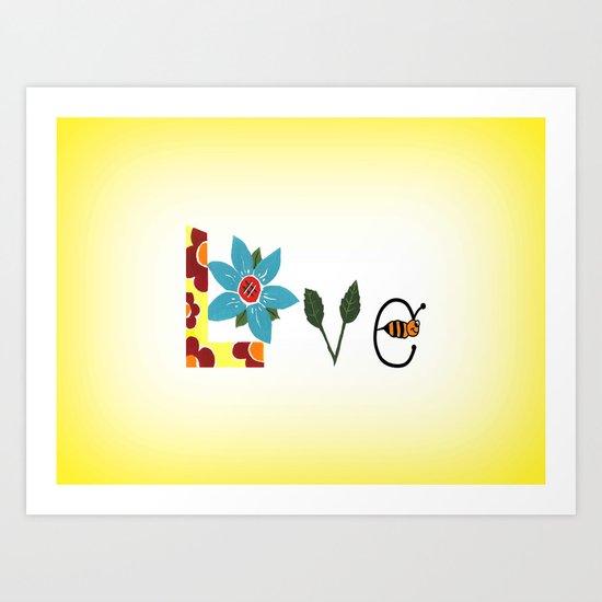 Bee Mine Art Print