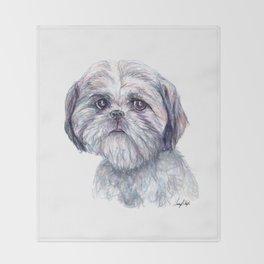 Shih Tzu - Dog Portrait Throw Blanket