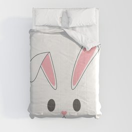 Simple and Cute Minimalist Easter Bunny Rabbit Comforters