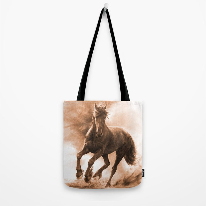 Horse in Storm - GRAPHITE DRAWING Tote Bag