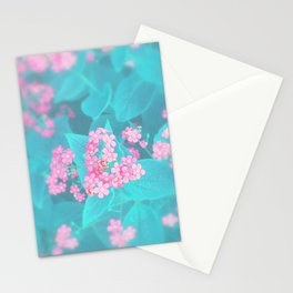 Forget Me Knot - Pink Heart little flowers Stationery Cards