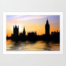 Westminster Skyline, London Art Print