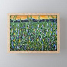 twilight mountain Framed Mini Art Print