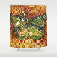 moth Shower Curtains featuring Moth by S.G. DeCarlo