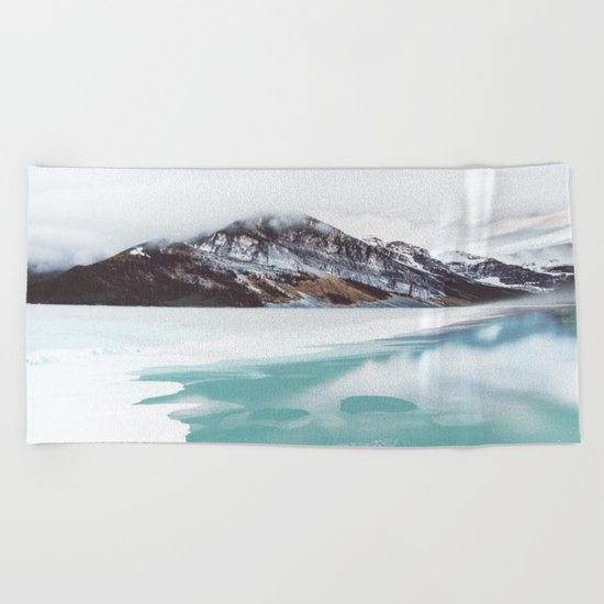 Canadian Mountains Beach Towel