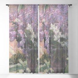 Mary Cassatt Lilacs in a Window 1880 Sheer Curtain