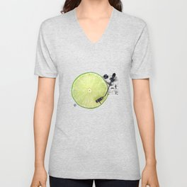 LIME DJ Unisex V-Neck