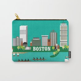 Boston, Massachusetts - Skyline Illustration by Loose Petals Carry-All Pouch