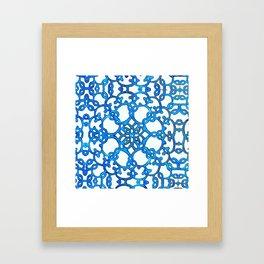 Blue Lace Framed Art Print