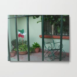 Patio at Dawn, Barrio Antiguo Metal Print
