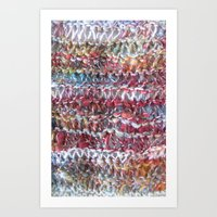 Colorful Knit Handspun Yarn Art Print