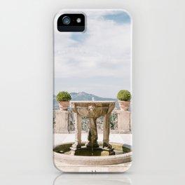 Italian Garden with Fountain iPhone Case