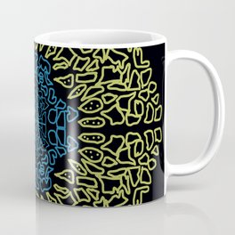 golden and blue mandala Coffee Mug