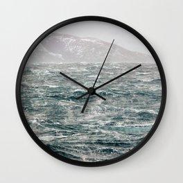 The Ocean in Winter Wall Clock