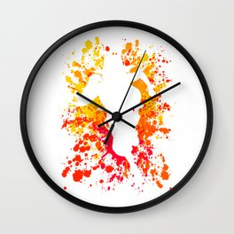 Anime Manga Ace Paint Splatter Shirt Wall Clock