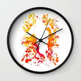 Anime Manga Ace Paint Splatter Shirt Wall Clock
