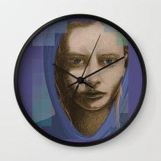 Real girl, digital world Wall Clock