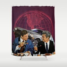 Power Lunch Shower Curtain