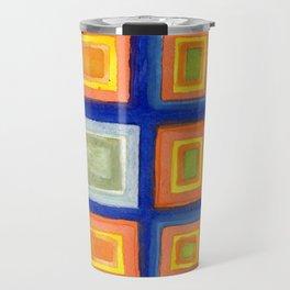 Square Pattern Beaming with Luminous Color Travel Mug