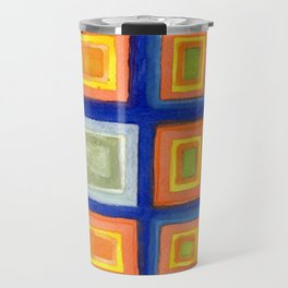 Square Pattern Beaming with Luminous Color Travel Mug