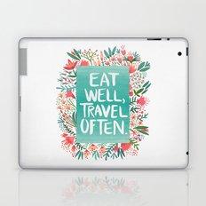 Eat Well, Travel Often Bouquet  Laptop & iPad Skin