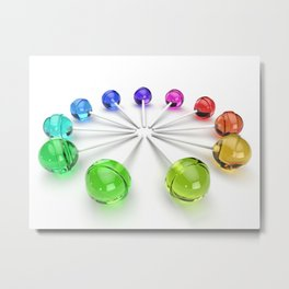 Rainbow Lollipop Metal Print