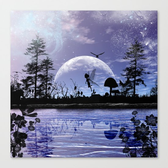 Fairy silhouette Canvas Print