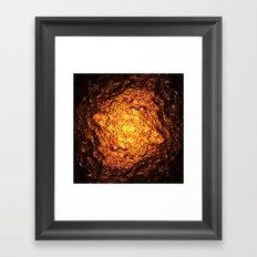 Red Hot Lava Framed Art Print