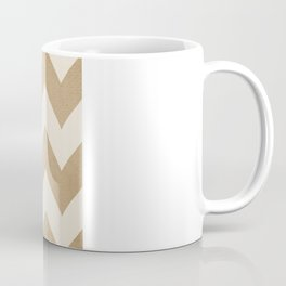 Biscotti & Vanilla - Beige Chevron Coffee Mug