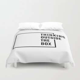 Thinking outside the box Duvet Cover