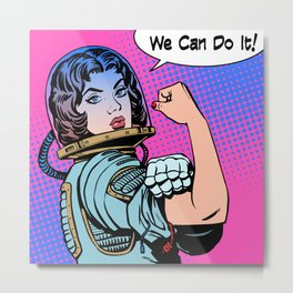 We can Do It ! Feminism Queer Galaxy Metal Print