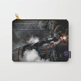 Vintage Steam Engine Black Locomotive Train Carry-All Pouch