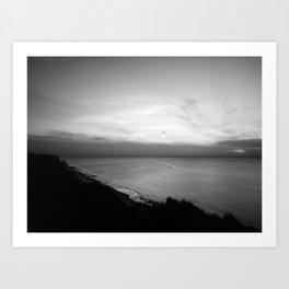 Sunset / bnw Art Print