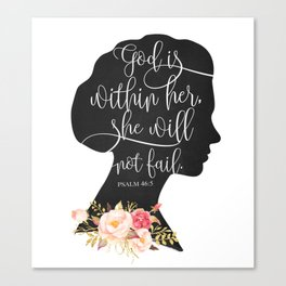 God with Within Her Canvas Print