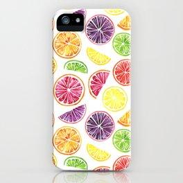 Citrus Wheels iPhone Case