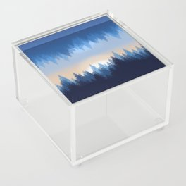 Winter Pines Reflected Acrylic Box