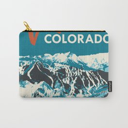 Ski Vail Colorado, vintage poster Carry-All Pouch