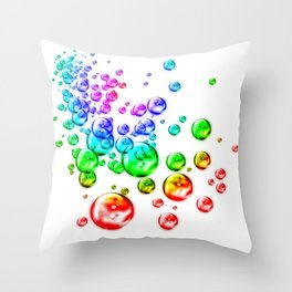 Colored bubbles Throw Pillow