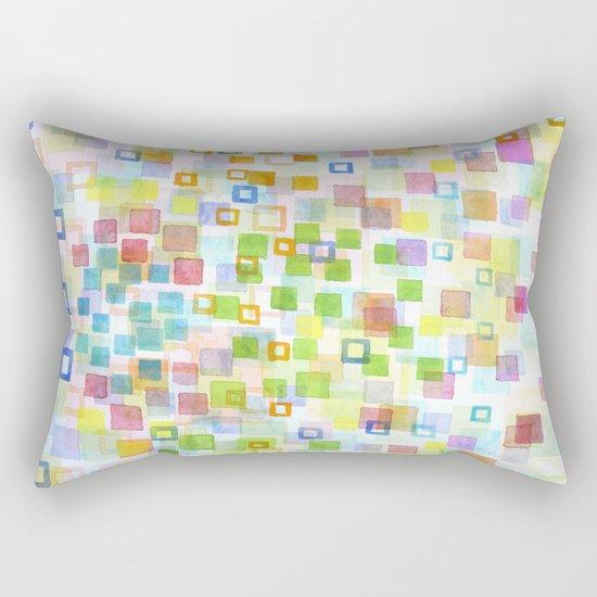Raining Squares and Frames Rectangular Pillow