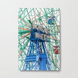Wonder Wheel Coney Island (Brooklyn USA) Metal Print