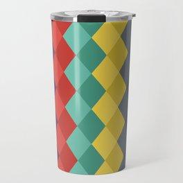 Rombs retro color Travel Mug