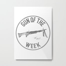 Gun of the Week 'The Pig' Metal Print