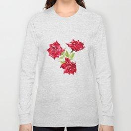 Three Red Roses Long Sleeve T-shirt