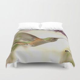 Ms. Hummingbird Checks Another Nectar Source Duvet Cover