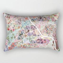 Warsaw map Rectangular Pillow