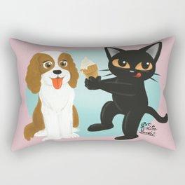 Share the ice cream Rectangular Pillow