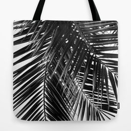 Tropical Vibes | Black and White Tote Bag