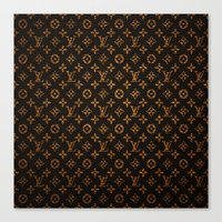 lv Canvas Prints featuring LV Pattern by Veylow