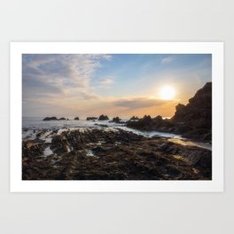 Bude Beach Cornwall Art Print